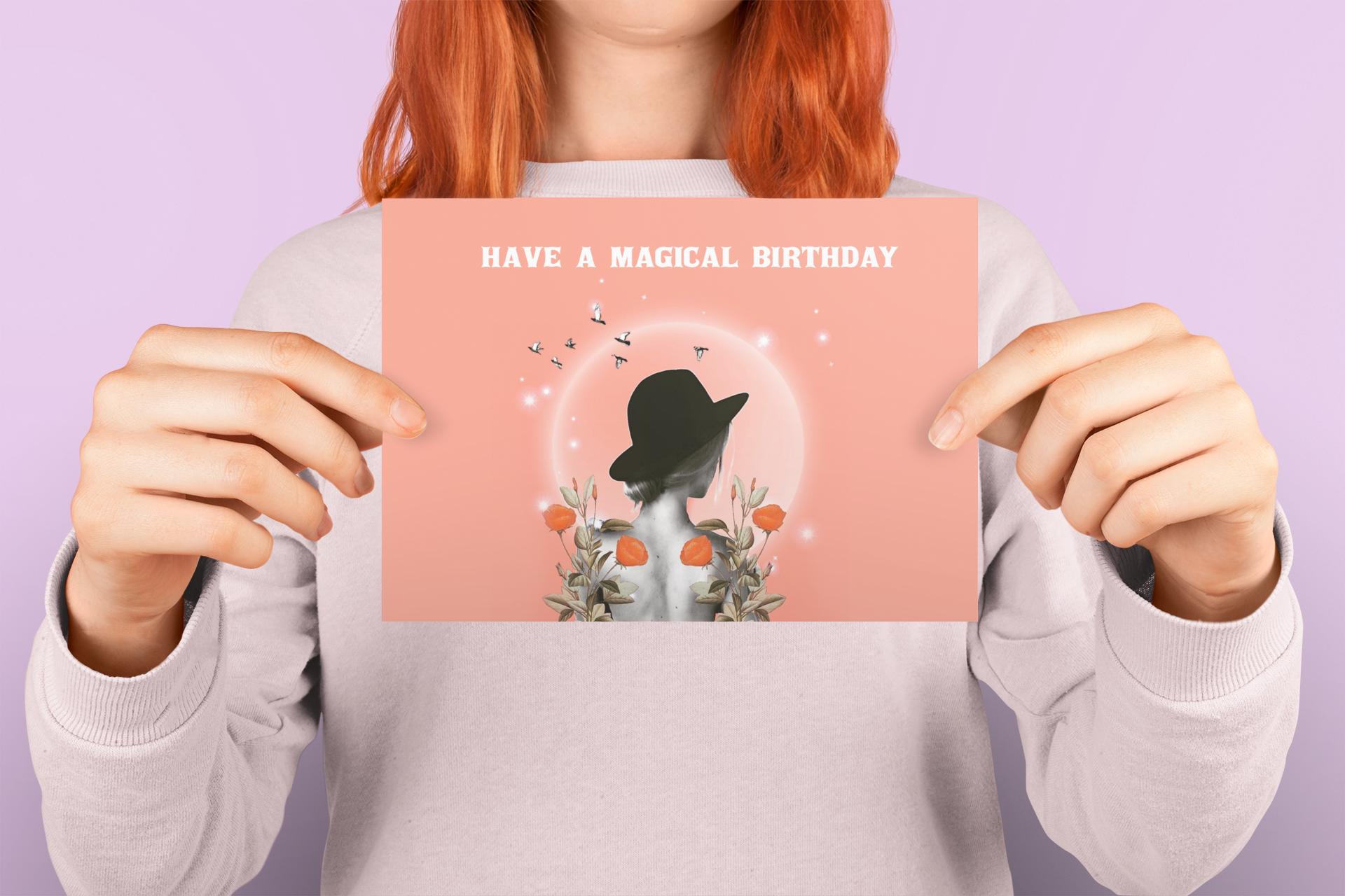 Simply Whyte Design Digital Collage Happy Birthday card