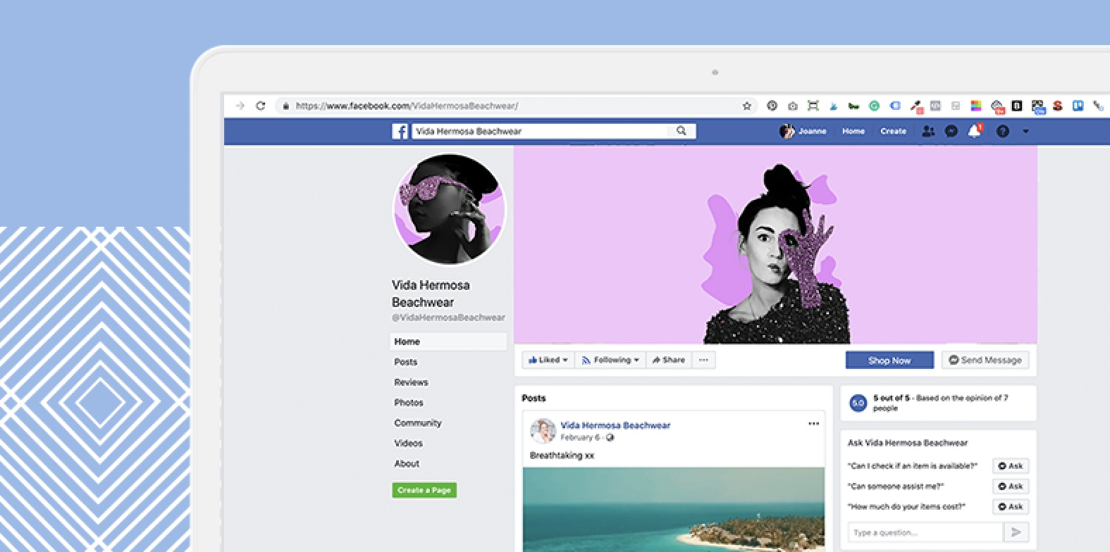 Simply Whyte Design Digital collage facebook banner