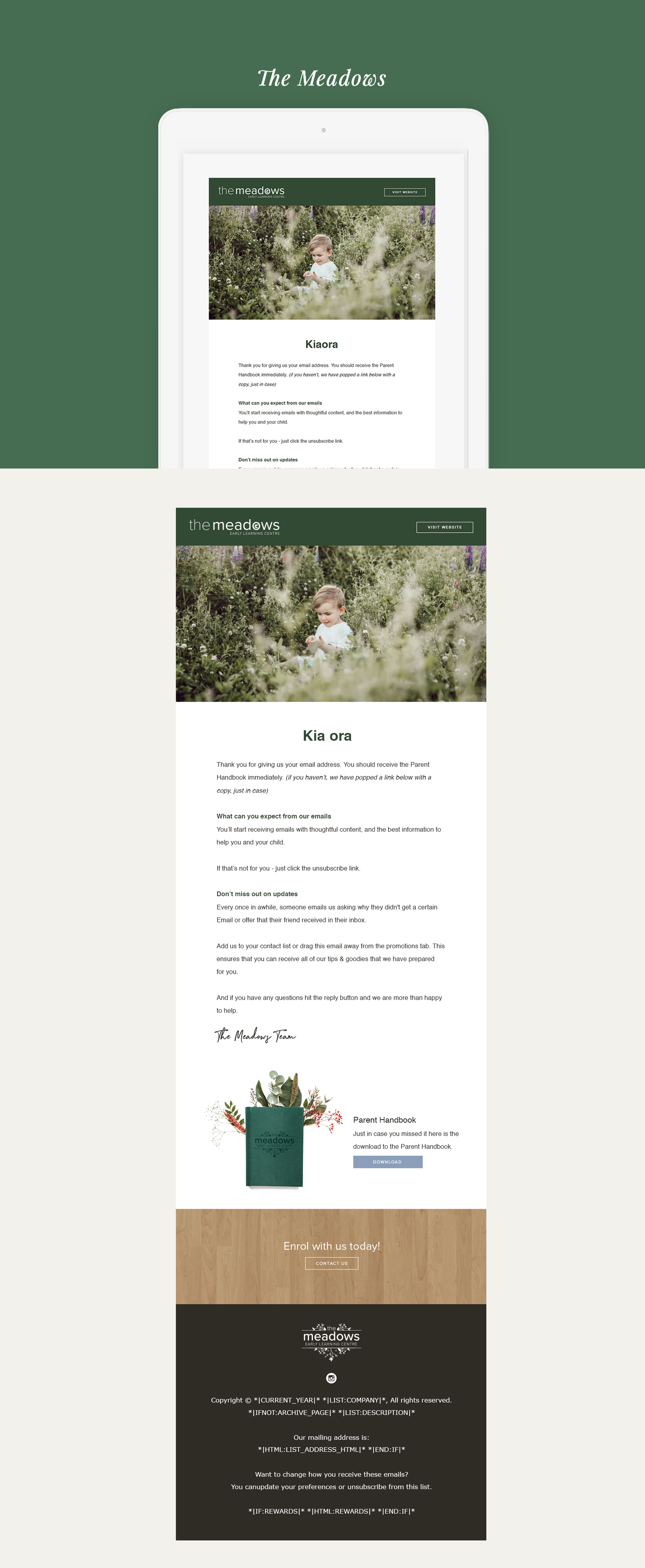 The Meadows mailchimp design Simply Whyte Design branding and squarespace design.png