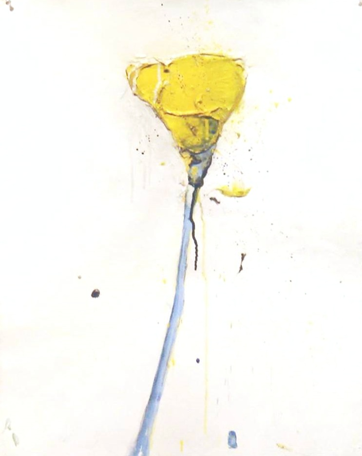 "Stem 146 -2012 -Acrylic on Paper - 22.5"" x 30"""