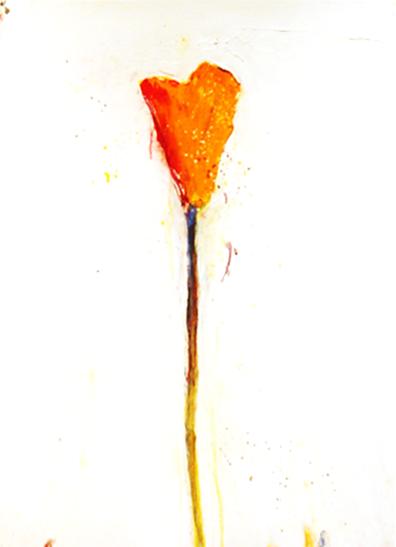 "Stem 140 - 2011 - Acrylic on Paper - 22"" x 28"""