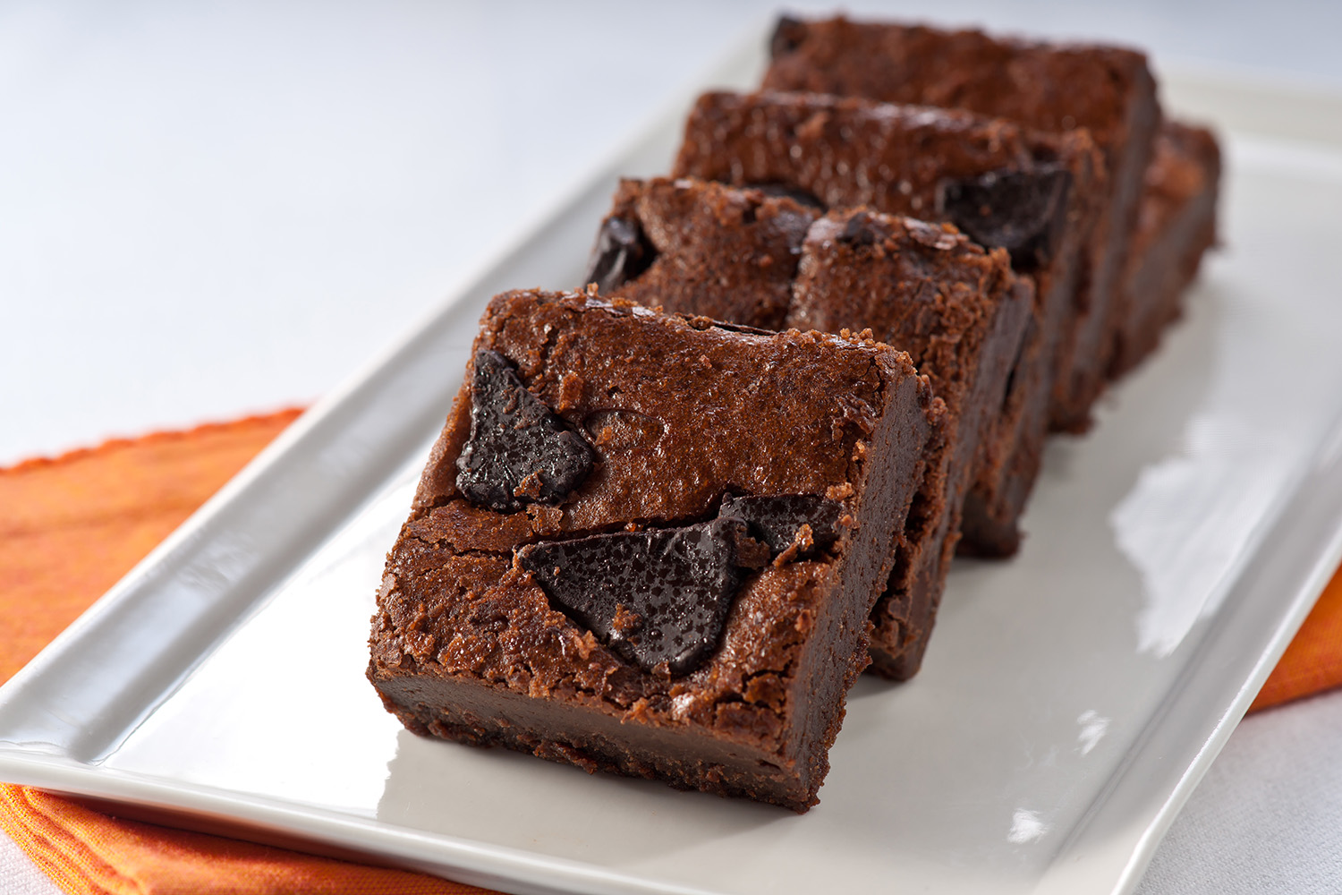 Double Fudge Brownie - Don't feel nutty? Enjoy the great fudge flavor of our rich, moist brownie - without the nuts - and you'll be in chocoholic heaven.