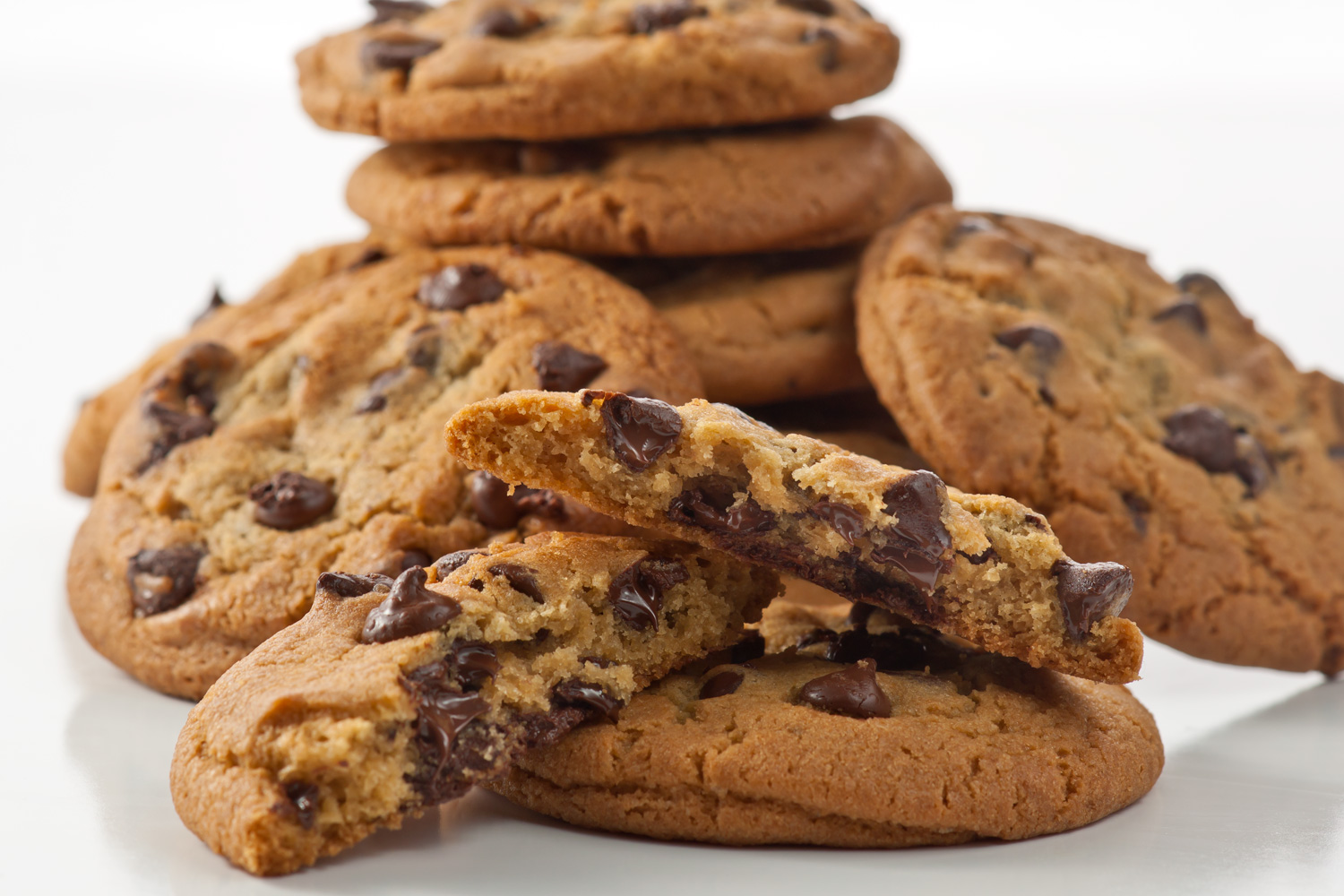 Chocolate Chip - America's most popular cookie through the years. One of our favorites also, every mouthful is bursting at the seams with semi-sweet chocolate. This is the perfect cookie for anywhere, anytime, anyplace.