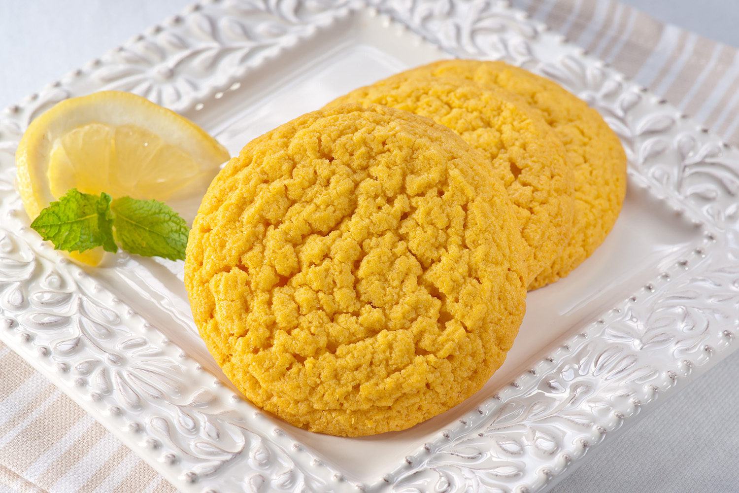 Lemon - These delicious cookies are light and fluffy with an added touch of lemon. This all-time summer favorite is a great treat for a picnic lunch or a pool-side snack, and is sure to satisfy any sweet tooth.