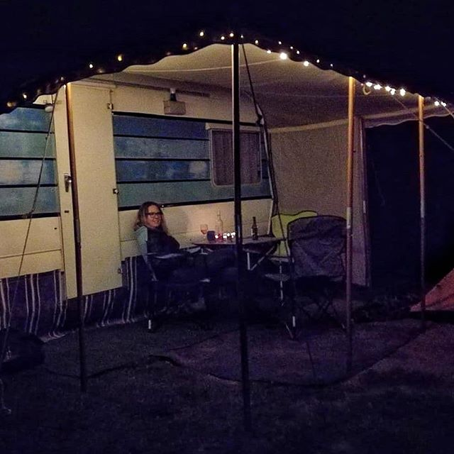 Our little caravan all set up on his very first night out with us, staying at #hotwaterbeachtop10 💕 Don't the lights look pretty?  We stayed with about 40 other retro caravans on a rally, whichbwas a new, awesome experience for us and so much inspiration for how we can transform our little Piwakawaka  #newzealand #northisland #coromandel #coromandelpeninsula #goodforyoursoul #firsttimeout #nzrccc #caravanrally #caravanlife #caravanity #retrocaravan #vintagetrailer #vintagecaravan #vanlife #weareweekendkiwis #caravancamping #caravanmakeover #trailermakeover #caravanrenovation #vanlife #homeiswhereyouparkit #newzealandroadtrip #thisnzlife