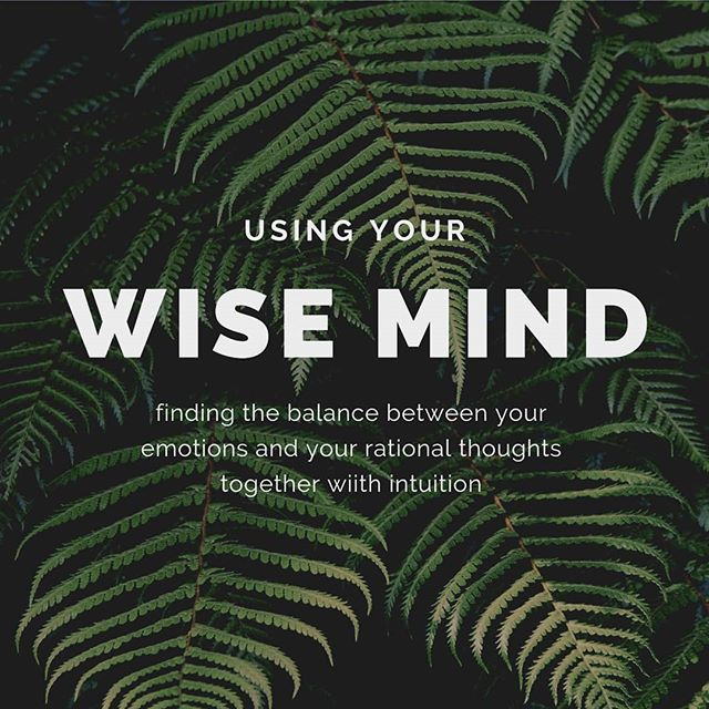 "■▪︎Wise Mind ▪︎■ Sometimes our emotions can get the best of us. In those moments, we may have irrational thoughts which leads to impulsive, and possibly destructive behaviors. This usually means we have gotten stuck in one ""mind"". ""Emotional mind is the feelings mind. Rational mind is the factual/knowledge mind. Wise mind is when they work together with intuition."" Your emotions can be spontaneous and bring your thoughts to unrealistic and scary thoughts. While your rational mind is factual, it can disconnect you from the humanity of others. Being in your wise mind can help find balance and allow a person to be present in the moment, handle conflict and stress better.  This is a skill the requires practice! Some ways to approach this is with thought/behaviors charts, journaling or even go ol' distraction. It is key to remember: approach this without judgment or high expectations for yourself. Practice makes perfect!  #mentalhealth #mentalhealthawareness #dbt #wisemind #emotionmind #rationalmind #therapy #therapist #privatepractice #suicide #suicideawareness #suicideprevention"