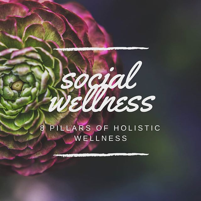 ■▪︎Social Wellness ▪︎■ As part of the 8 pillars of holistic wellness, social wellness supports you with feeling a part of something bigger than yourself. It involves having a network of people that provide guidance, support, and encouragement to achieve the best version of yourself. Social connection creates a sense of belonging and acceptance of yourself and your community.  Social wellness can also be practiced by setting appropriate boundaries with you social circle. Your social wellness is critical when understanding times of support and independence!  #mentalhealth #mentalhealthawareness #therapist #privatepractice #suicide #suicideawareness #spiritualwellness #religion #spirituality #balance #therapy #depression #anxiety #grief #wellness #wellnesswarrior