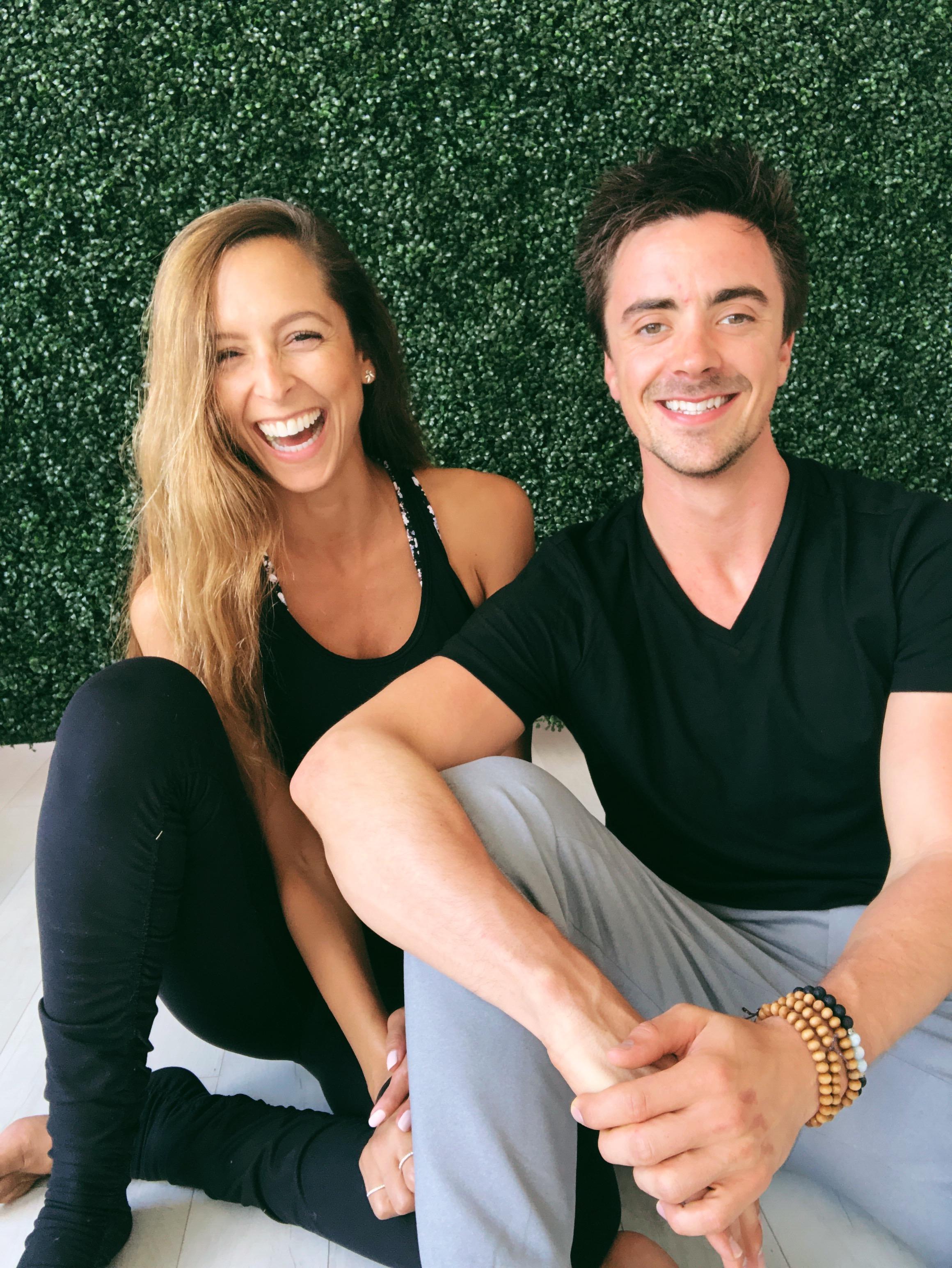 Wellness advocates dedicated to helping your organization find balance. - 500 Hour Registered Yoga Teachers:Bianca Esposito and Dalton Presson