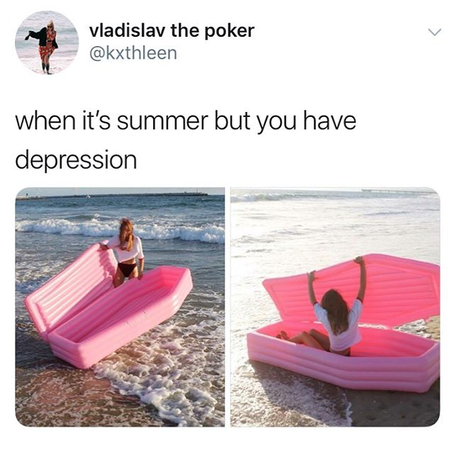 The perfect summer antidepressant is now available at our website - 20% OFF UNTIL MAY 24 with code SUNSCREENWILLGETYOULAID - link in bio. . . .  #pompomfloats #summer #depression #antidepressants