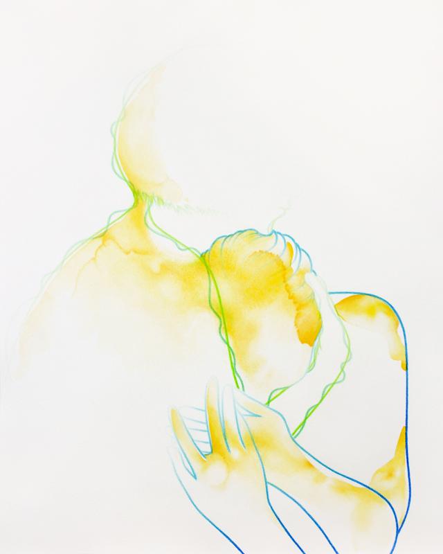 """""""Anuar"""" 57,3 x 46,1 cm, watercolour paint and watercolour pencil on paper, 2018"""