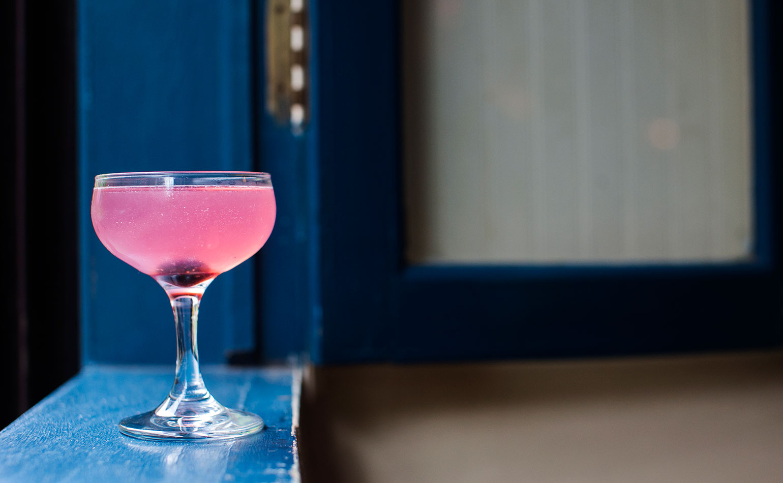 Aviation - Creme de Violette, Gin, Maraschino, and Lemon Juice