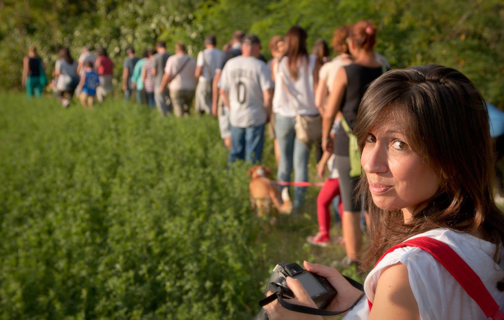 Sara Bracci durante un' escursione