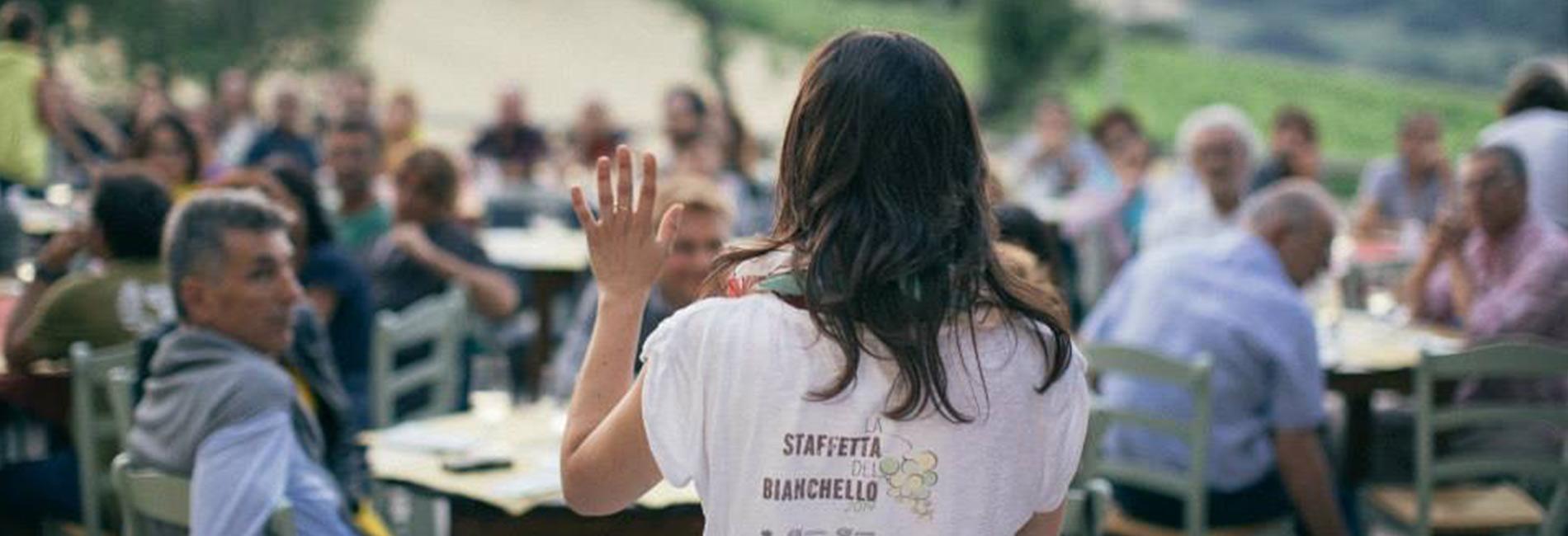Sara Bracci durante la Staffetta del Bianchello