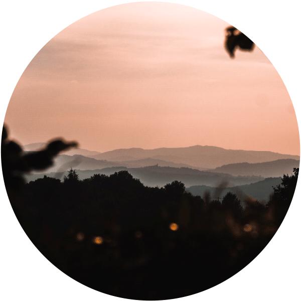 Panorama e tramonto marchigiano