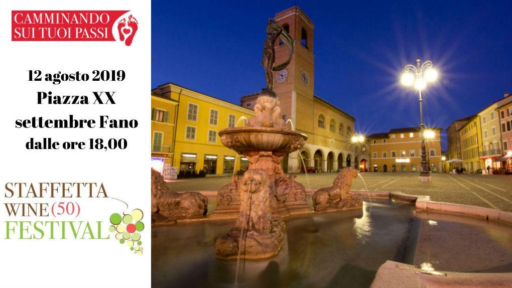 la festa in piazza xx settembre a Fano per i 50 anni della doc bianchello del Metauro staffetta wine (50) festival pesaro urbino