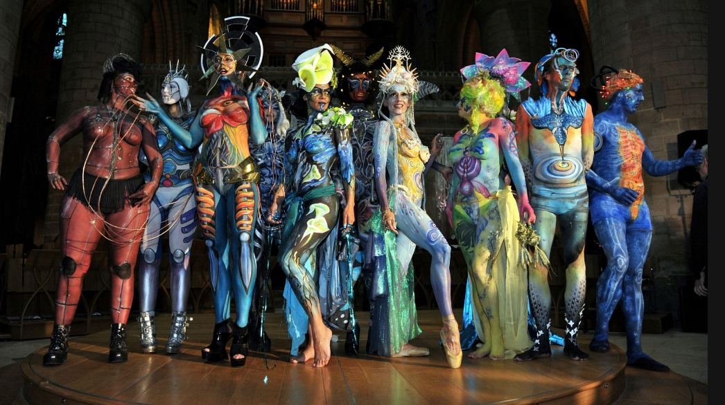 ACP wearable art at Gloucester Cathedral