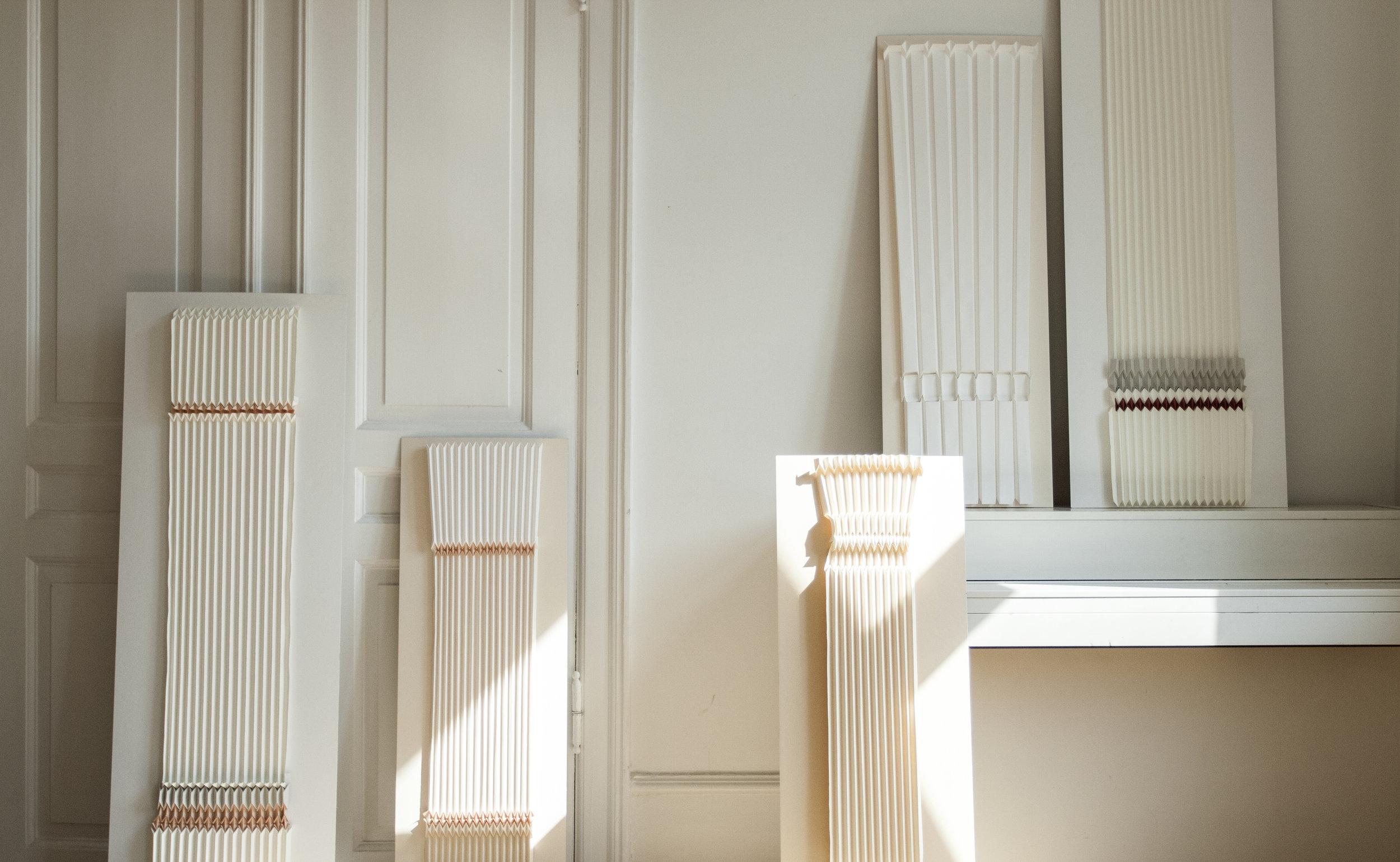 Doric Plissé - Paper creations inspired by Doric columns