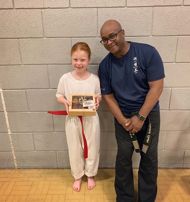 Well done to Chelsey Doyle who is the first winner of our new 'Student of the Month' scheme. She has tried really hard in July! 🥋👍 remember that each month, the 'Student of the Month' will win a box of brownies from @bakedbrowniesuk 🍫