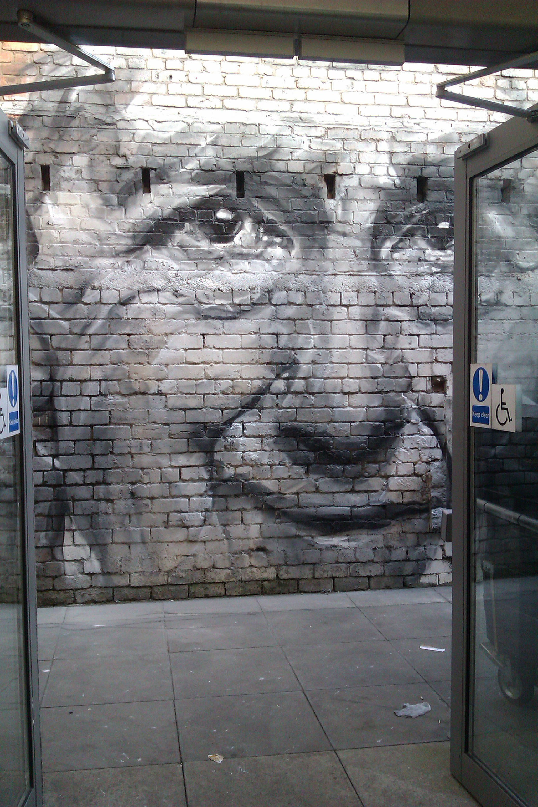 Guido van Helten at Out of the Blue Drill Hall, depicting one of the last survivors of the Gretna Rail Disaster of 1915