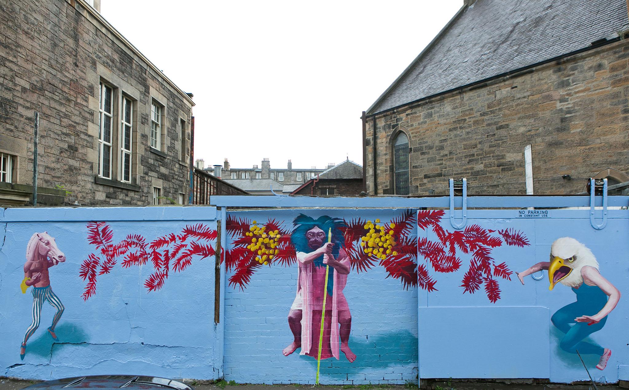 Kirsty Whiten – Mural, Dalmeny Street