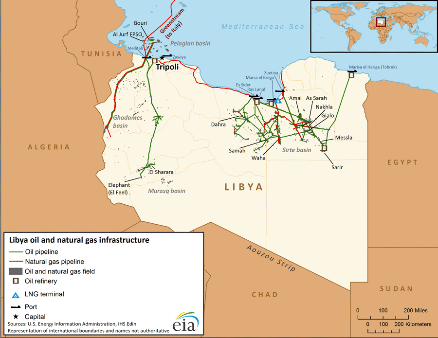 The Zawiya oil export terminal, which is located about 50km west from Tripoli, is the main export terminal for El Sharara oil field which, at roughly 300,000 barrels per day, is the OPEC's member largest oil field. Any protraction of the conflict could lead the OPEC member to a potential loss of almost half of its oil production capacity.