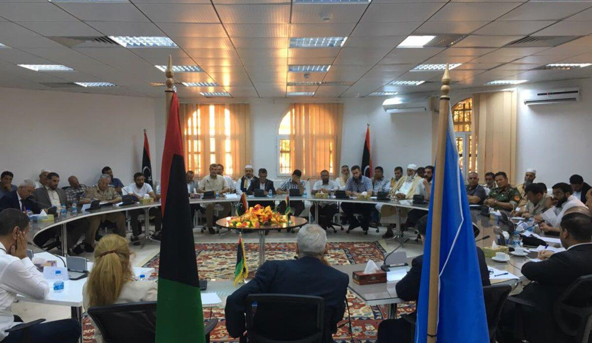 September 9th, 2017. The meeting, convened in the western Libyan city of Zawiya, was attended by representatives of the Government of National Accord and the military commanders, security apparatuses and armed groups present in and around the Capital.