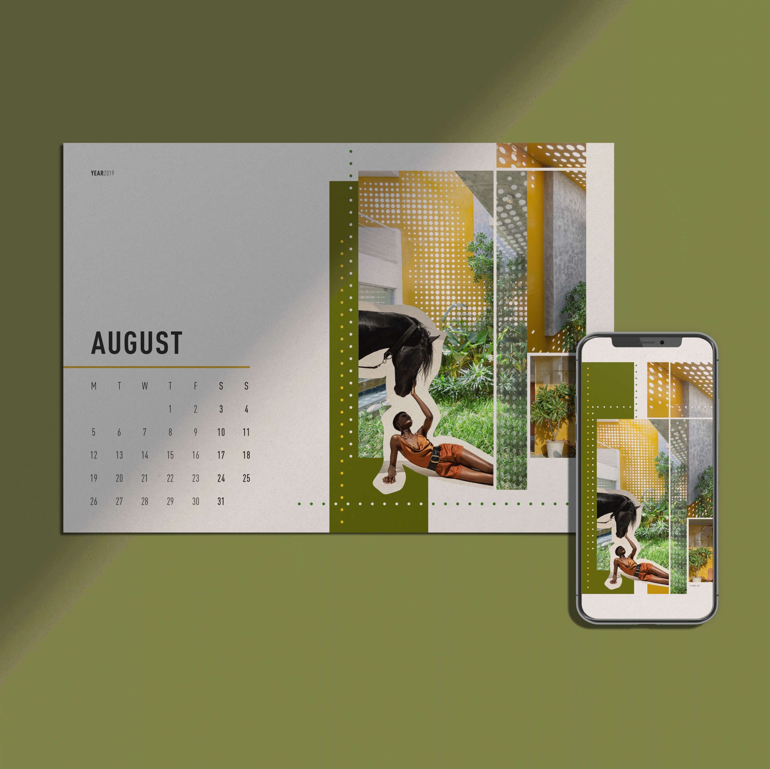 Monthly Calendar + Wallpaper /  AUGUST 2019    FREE DOWNLOAD