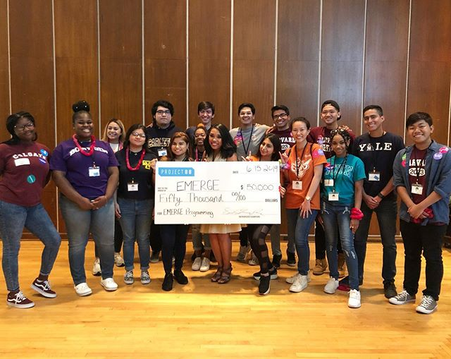 We got to drop off our $50,000 check today, to support @emergevillage and it's all because of YOU! 🎉Thanks to all who believe in our Houston students, and support our mission of connecting Houston-area students to opportunity! 🎓Because if YOU these students got attend a conference at Rice University, and receive support before going off to college! #BuildTheVillage #Opportunity4All ✨Link to event in bio!
