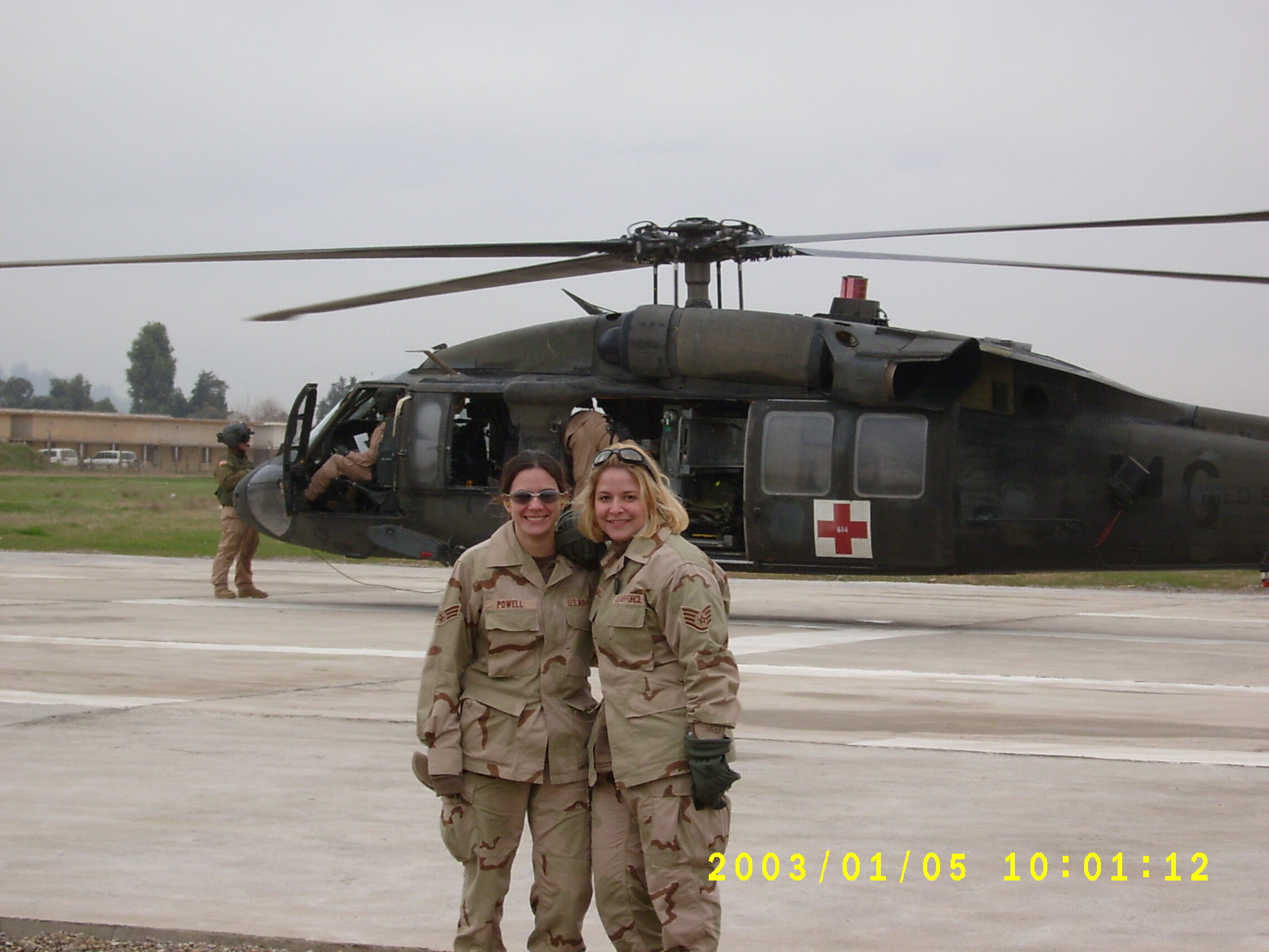 Powell and Hall with BlackHawk.JPG