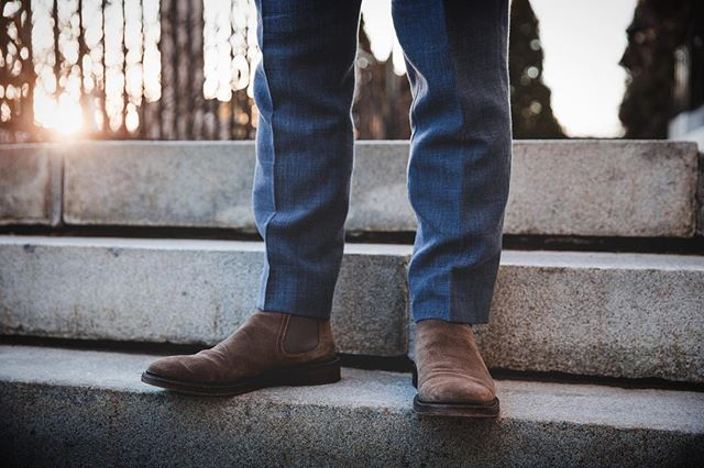 Chelsea boots: the choice of many boot guys who hate dress shoes. Sorry dress shoes, it's not you, it me.  #mensfashion #fashion #style #mensstyle #mensfashionblogger #mensfashiontips #mensfashionreview #fashionstyles #stylegram #mensstyleoftheday #dresstoimpress #menswear #dapper #mensstyleguide #mnswr #newenglandstyle #ruggedstyle #fashionblogger #ootd #wiwt #love #springfashion #youtuber #heritagestyle #chelseaboots