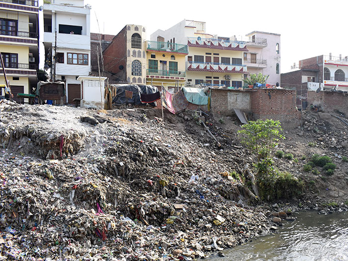 Plastic pollution along the Ganges Basin in Varanasi