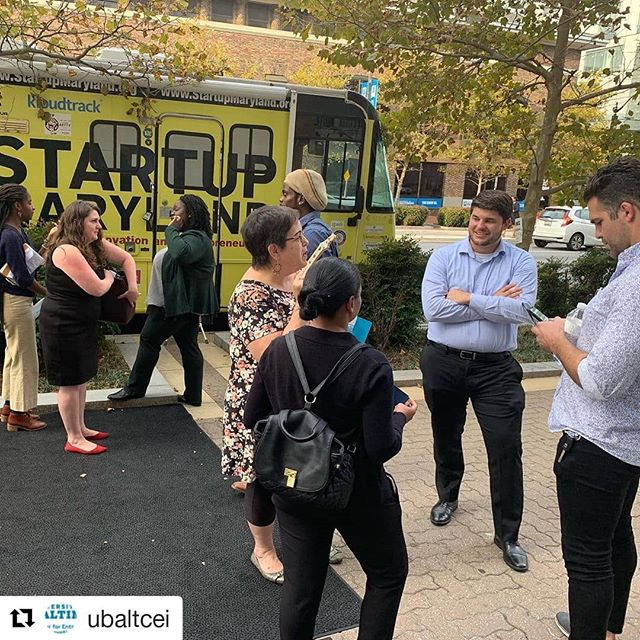 #Repost @ubaltcei ・・・ A few of our pitch competitors waiting to pitch on the Startup Maryland bus. Who will be the winner??? #baltimoreinnovationweek #biw19
