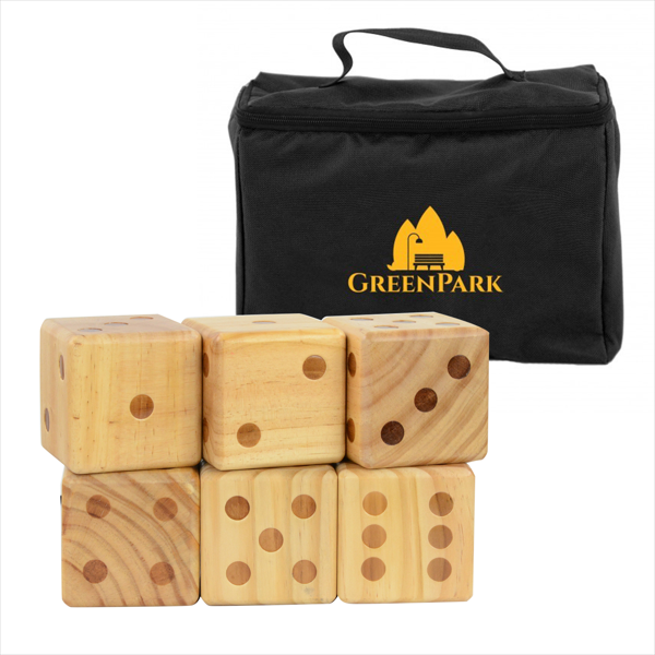 This giant dice game is fun for the whole family. And it fits neatly into a branded carrying case, so you can easily provide entertainment in the backyard or at the park.