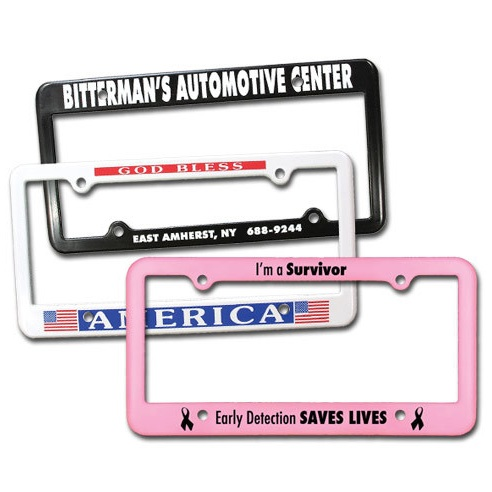 Drive it Home: License plate frame - What better way to get the word out than with a branded license plate frame? No matter where your customer drive, they'll be telling people that your business is the one they trust.