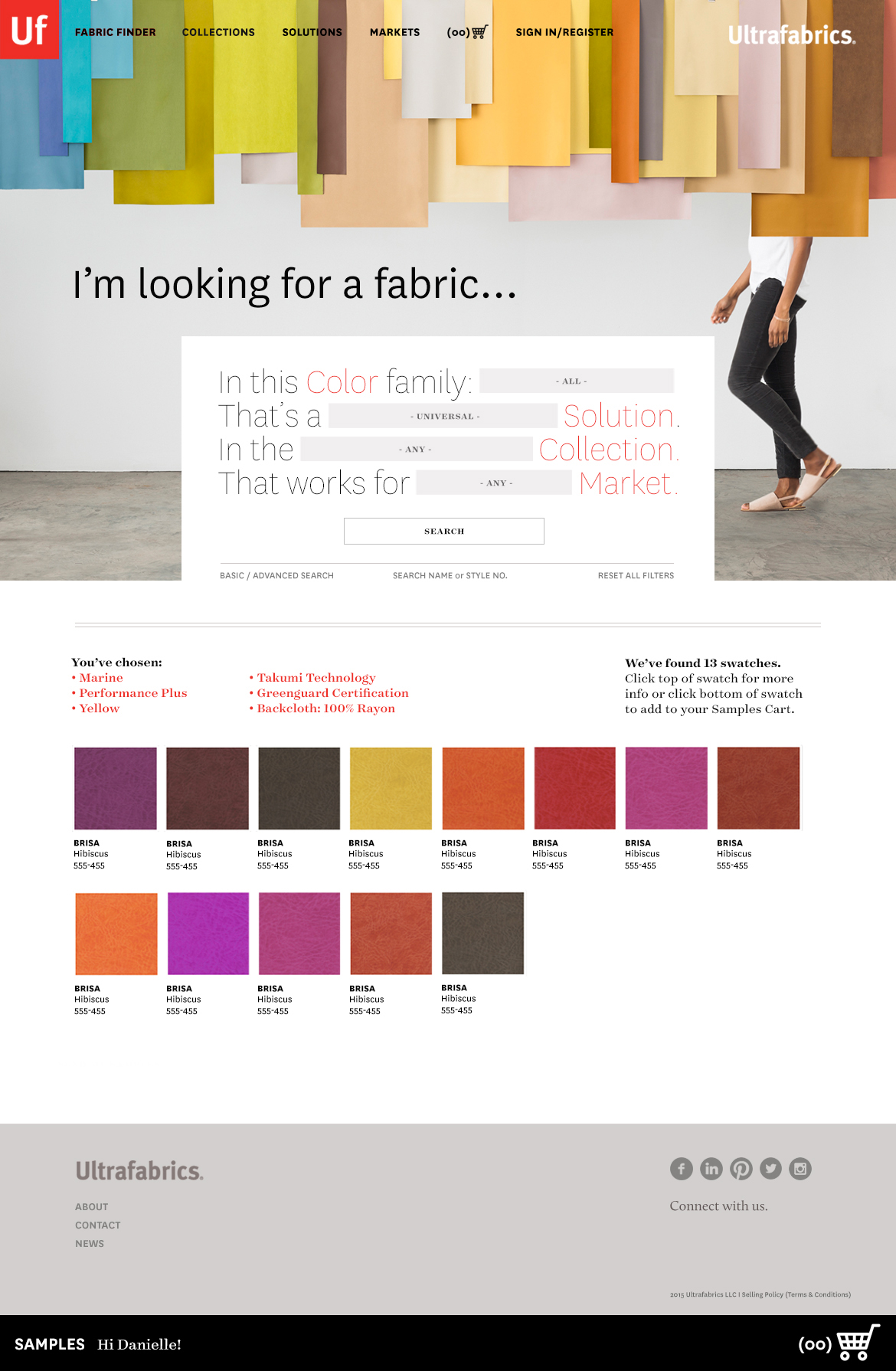 Website - Fabric Finder / Search Page