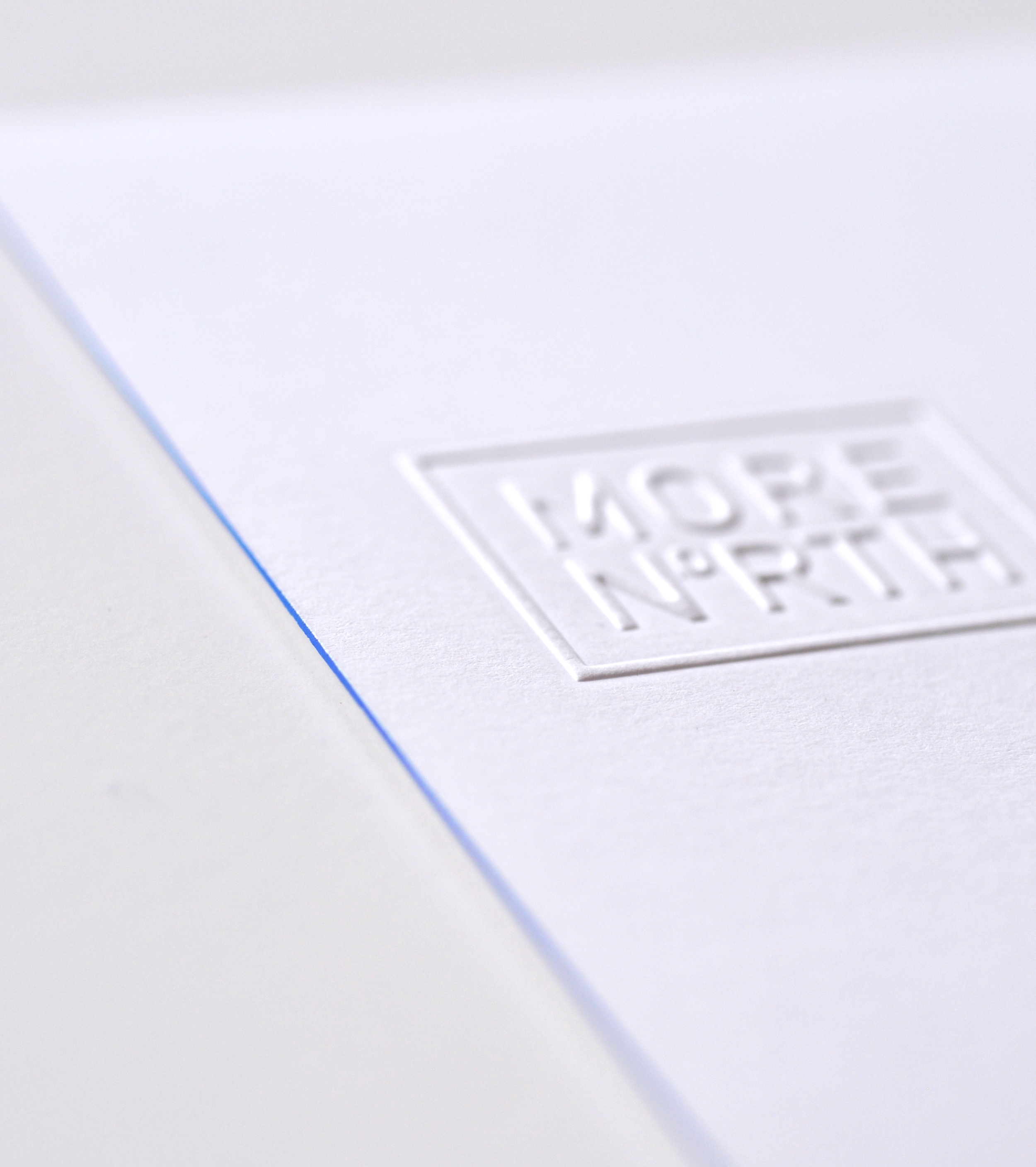 Blind Embossed and dipped Note Card