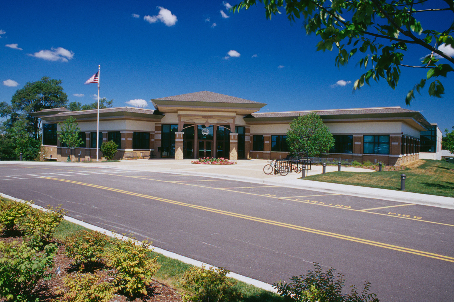 2000-046-21 Downers Grove Rec Center ext with road.jpg