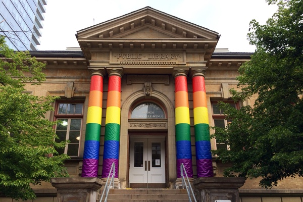 Yorkville Library PrideColumns2014.jpg