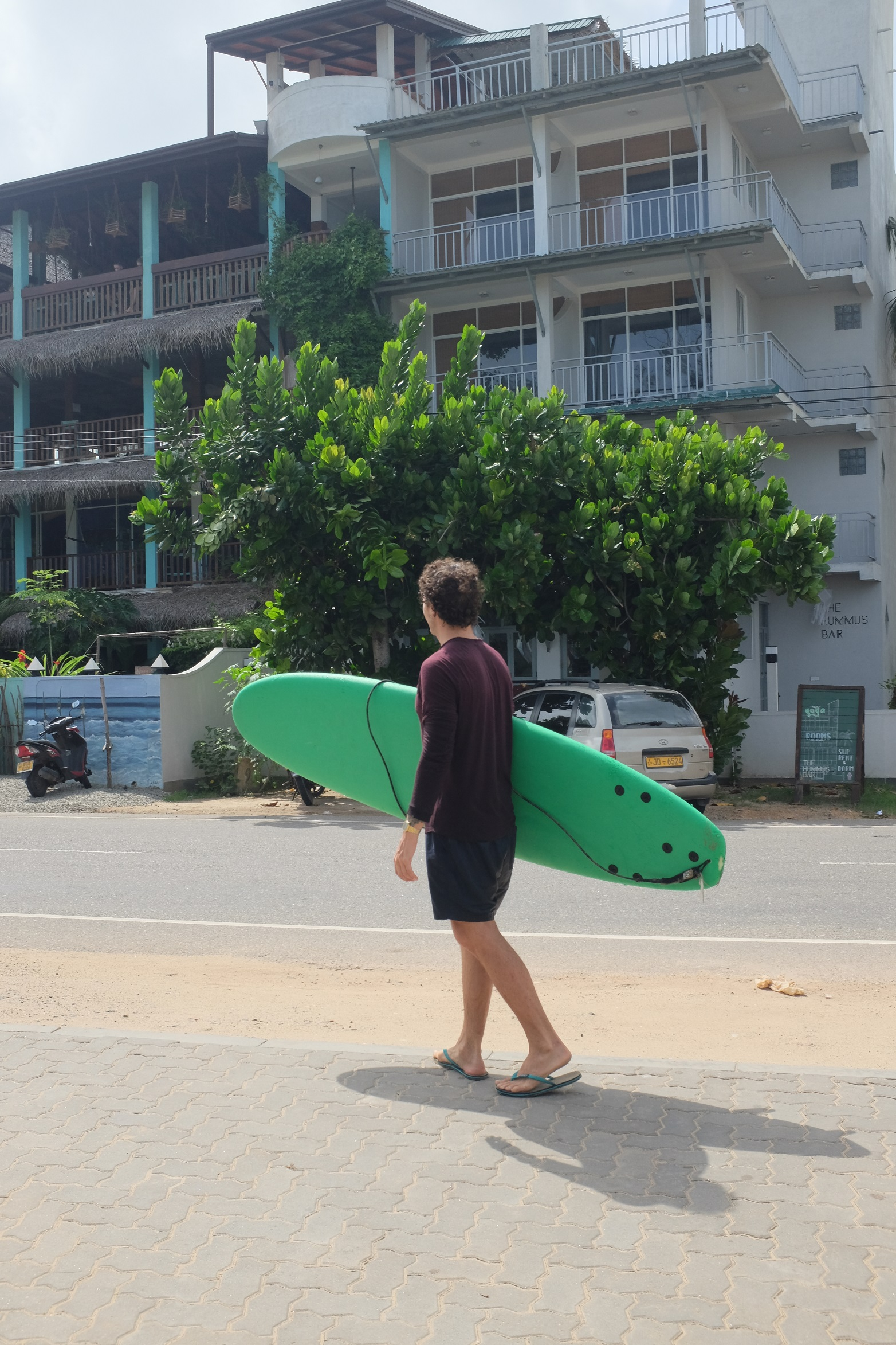 surfing in weligama, sri lanka