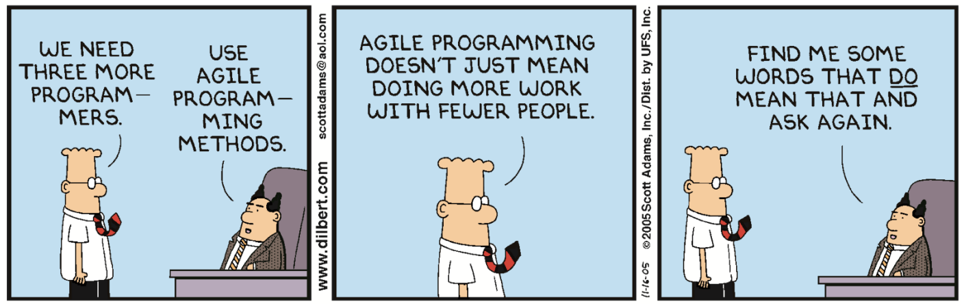 Agile — a lunatic utterance with the magical power to deliver anything under whatsoever condition