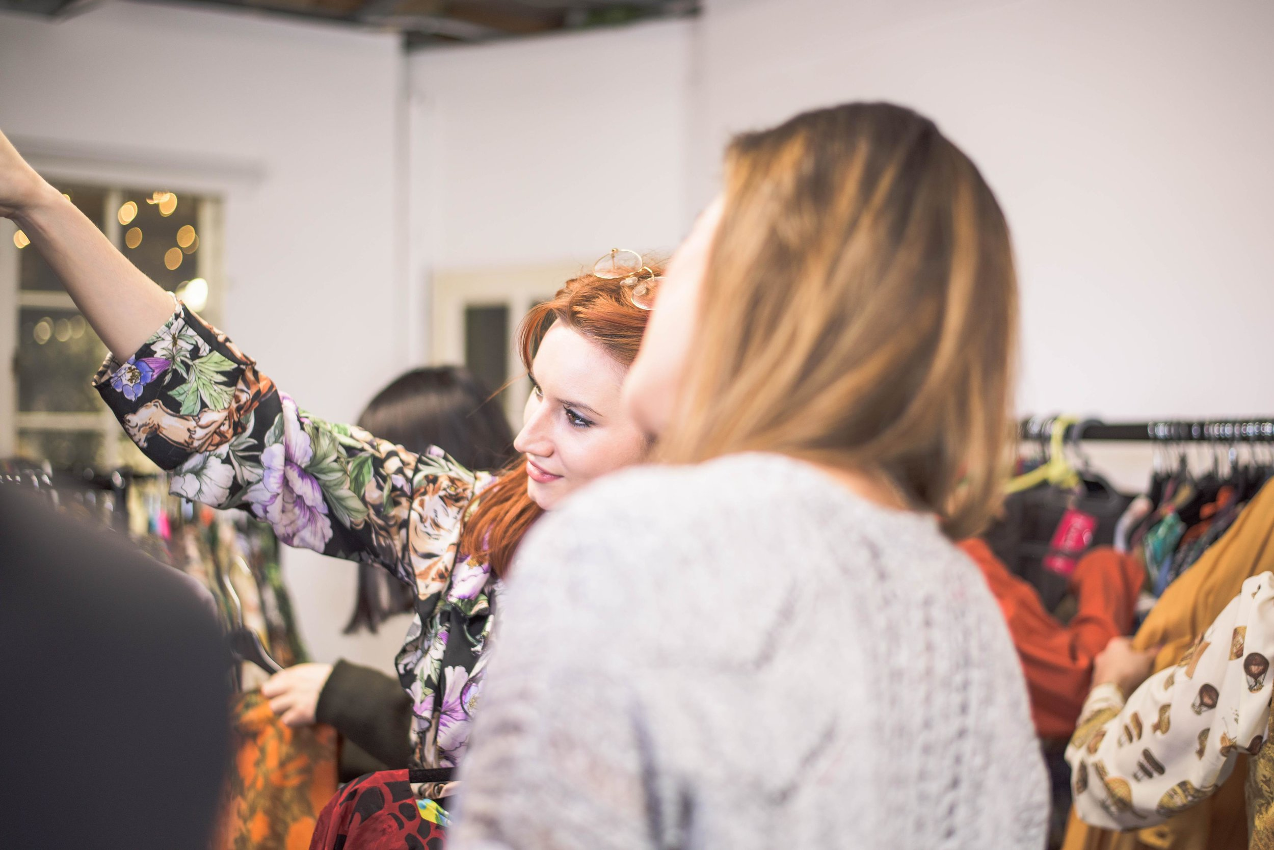 Louisa at the Trendlistr Studio styling some clients. Photo by  Marion Botella.