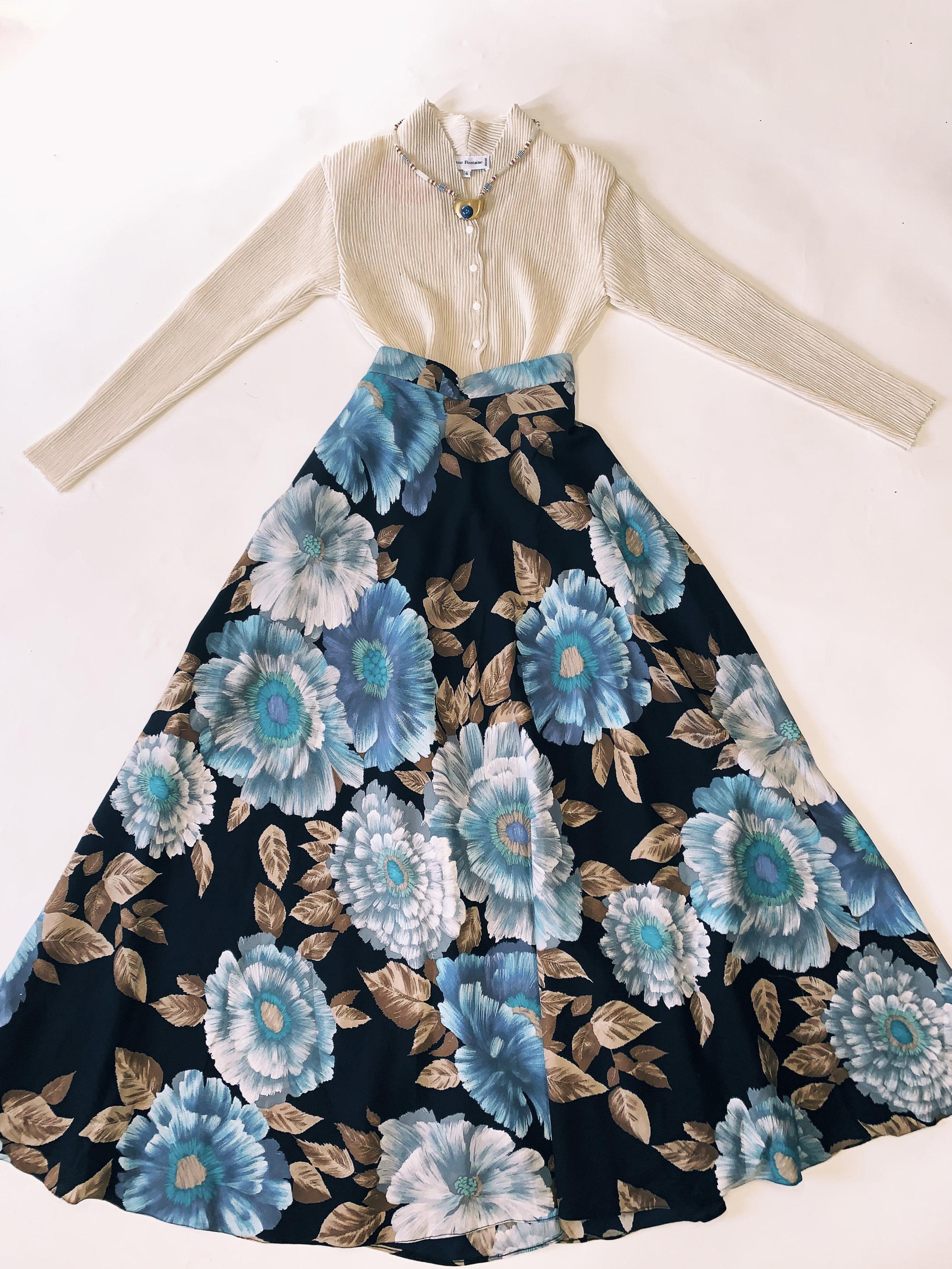 vintage-floral-print-skirt-trendlistr