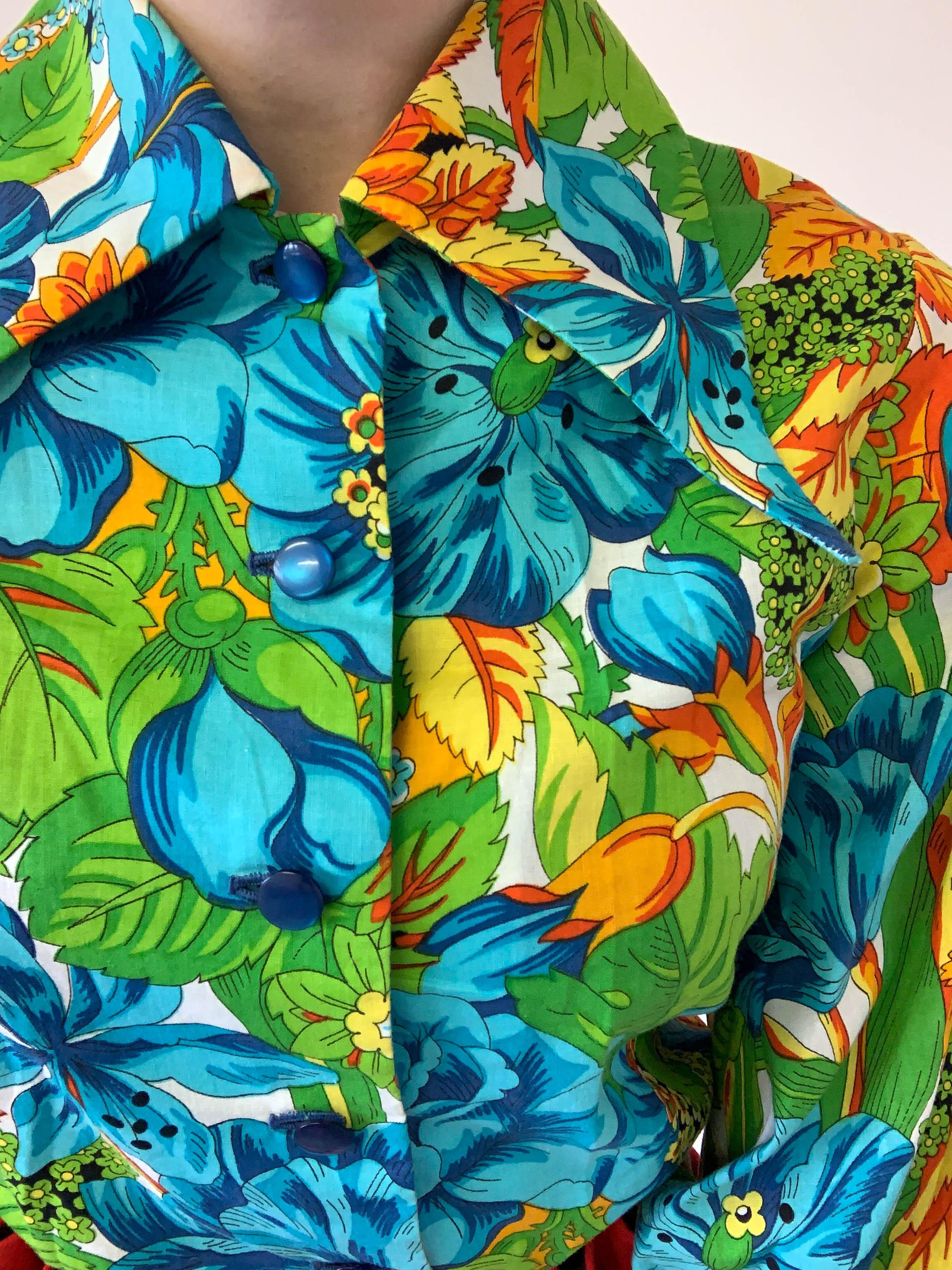 Tropical Print Blouse - £75