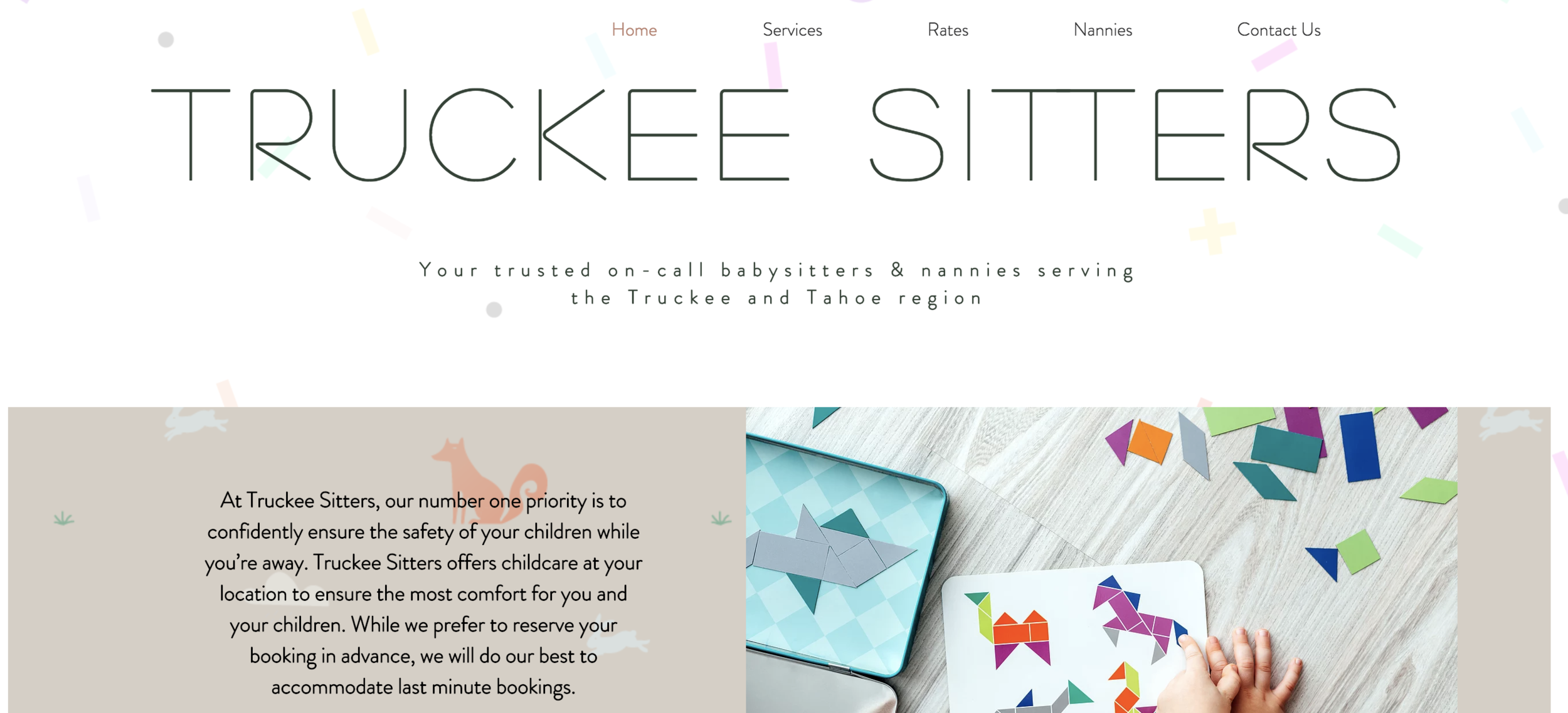 TRUCKEE SITTERS - Website Design and Management