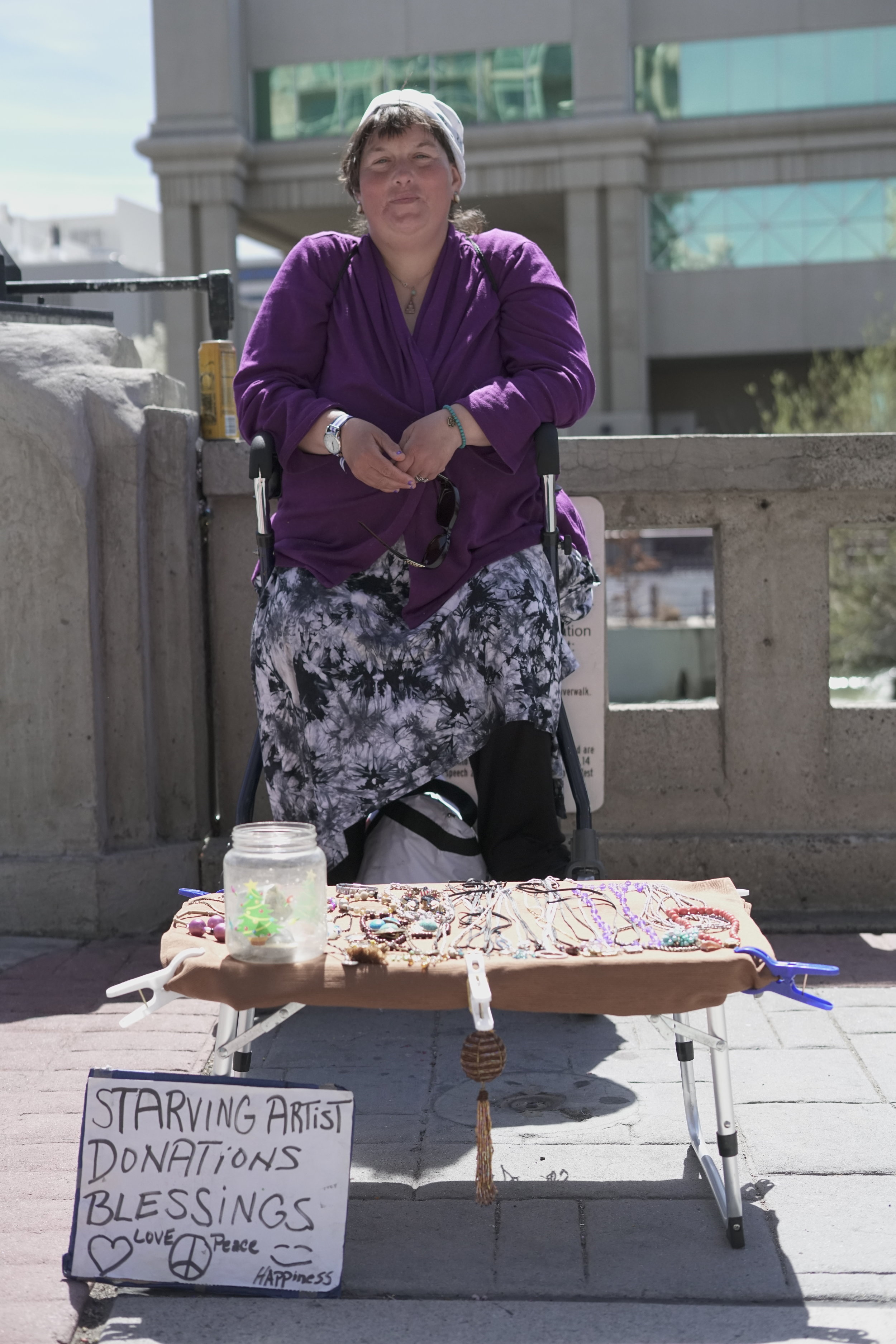 Paula describes herself as a starving artist, but continues to persevere daily.