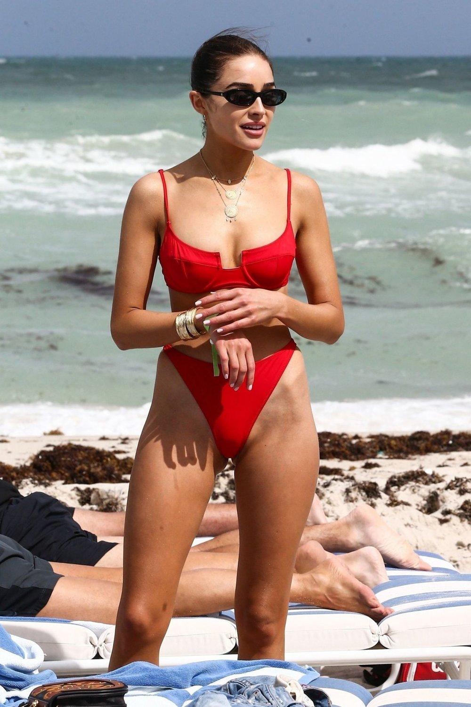olivia_culpo_solid_and_striped_red_bikini