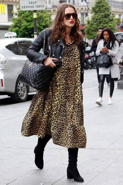 kyra-knightly-animal-print-dress