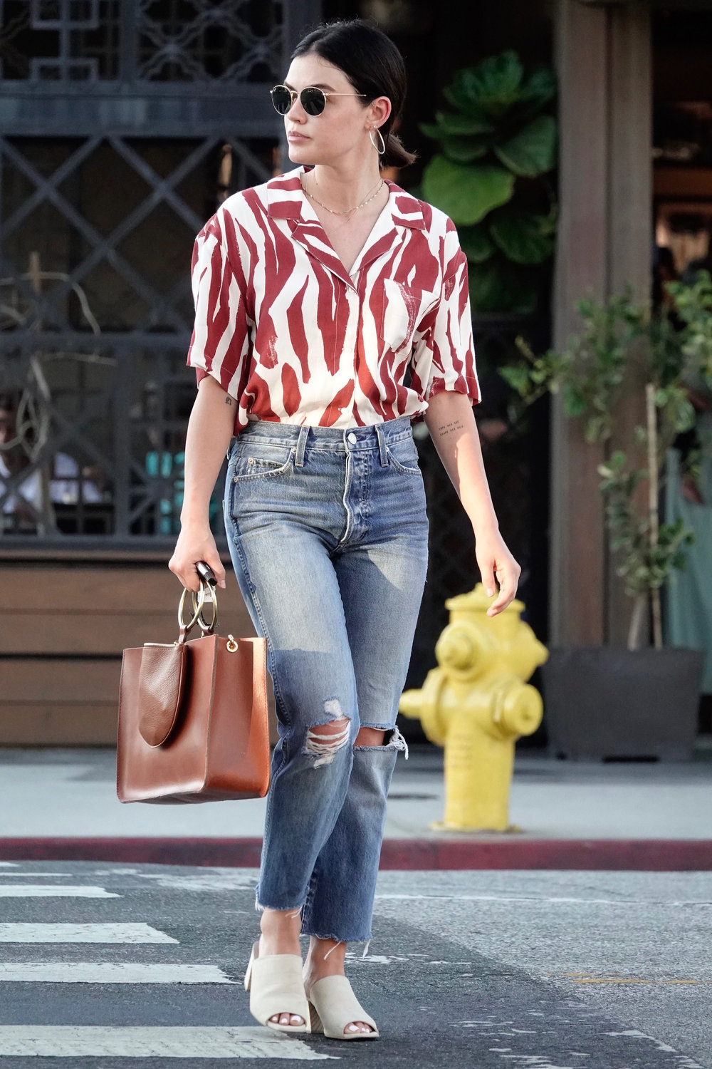 lucy-hale-red-printed-shirt.jpg