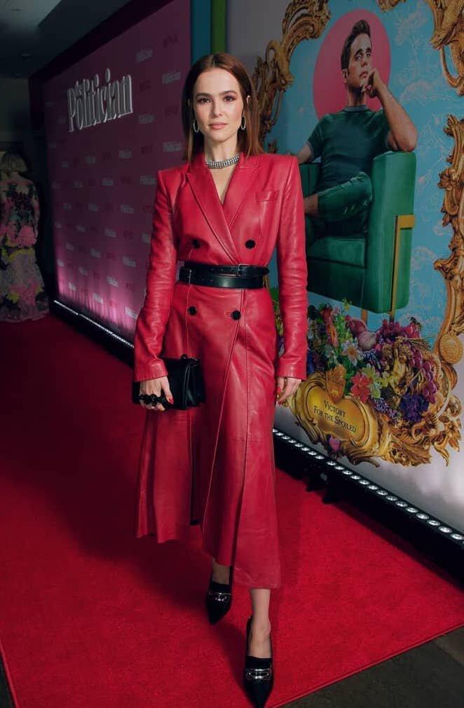 zoey-duetch-alexander-mcqueen-red-leather-coat-dress.jpg