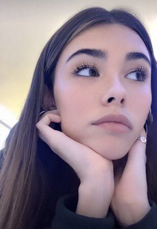 Madison Beer wearing a L'Oreal Voluminous Waterproof Mascara.